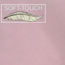 Jersey effen roos soft touch